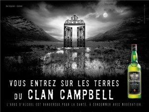 Affiche Clan Campbell / source : www.clublaguinguette.com